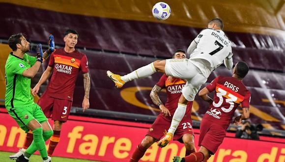 Doblete de Cristiano Ronaldo en Juventus vs Roma por Serie A