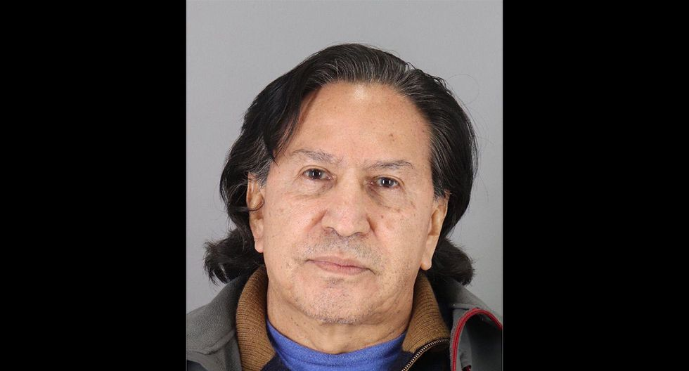 Alejandro Toledo luego de ser detenido en Estados Unidos. (Foto: California Maguire Correctional Facility)