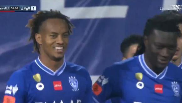 André Carrillo puso el 1-0 en Al Hilal vs Al Quadisiya.