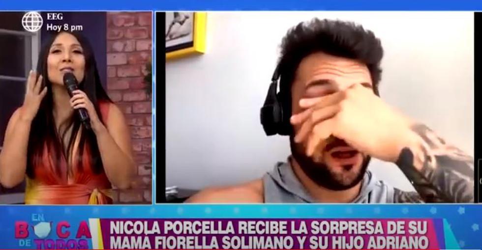 Nicola Porcella rompe en llanto al ver a su hijo y a su mamá
