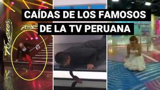 Las más ocurrentes caídas de los famosos de la televisión peruana