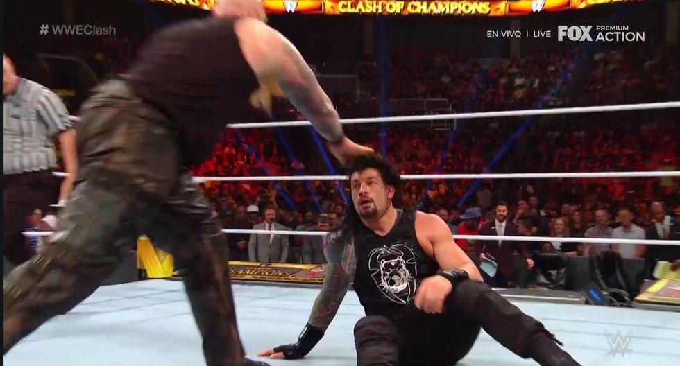 Roman Reigns cayó ante Erick Rowan y Luka Harper. (Captura video)