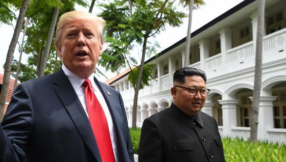 "Donald Trump advierte a Kim Jong-un de que perderá ""todo"" si actúa de forma ""hostil"". (AFP)"
