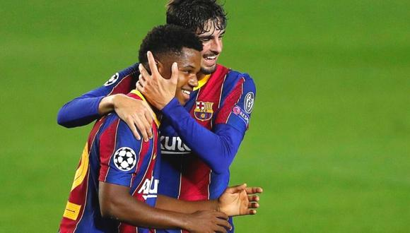 Ansu Fati da un paso más en su compromiso con Barcelona. (Foto: EFE)