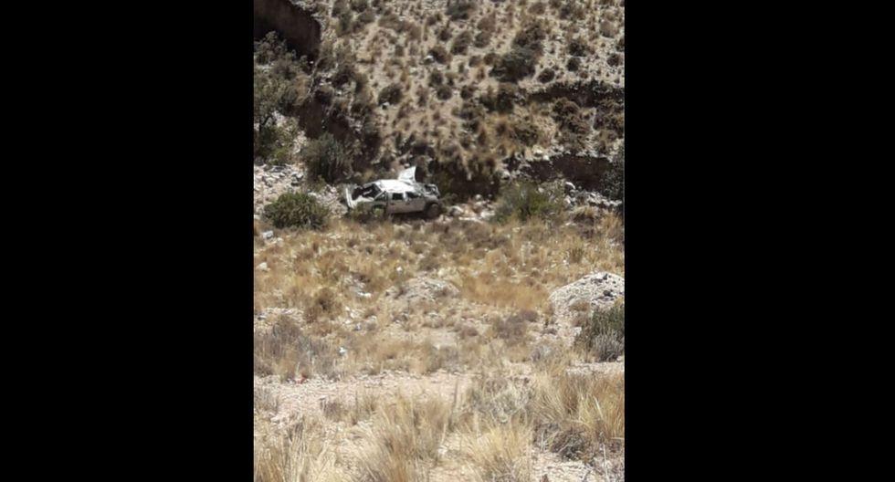 La Libertad. Conductor perdió el control del vehículo y terminó al fondo del abismo. (Foto referencial GEC)