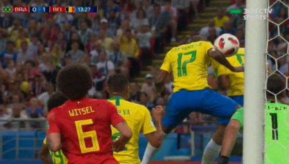 Gol de Bélgica a Brasil