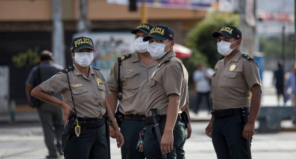 Policías custodian durante cuarentena. (Foto: César Campos/GEC)