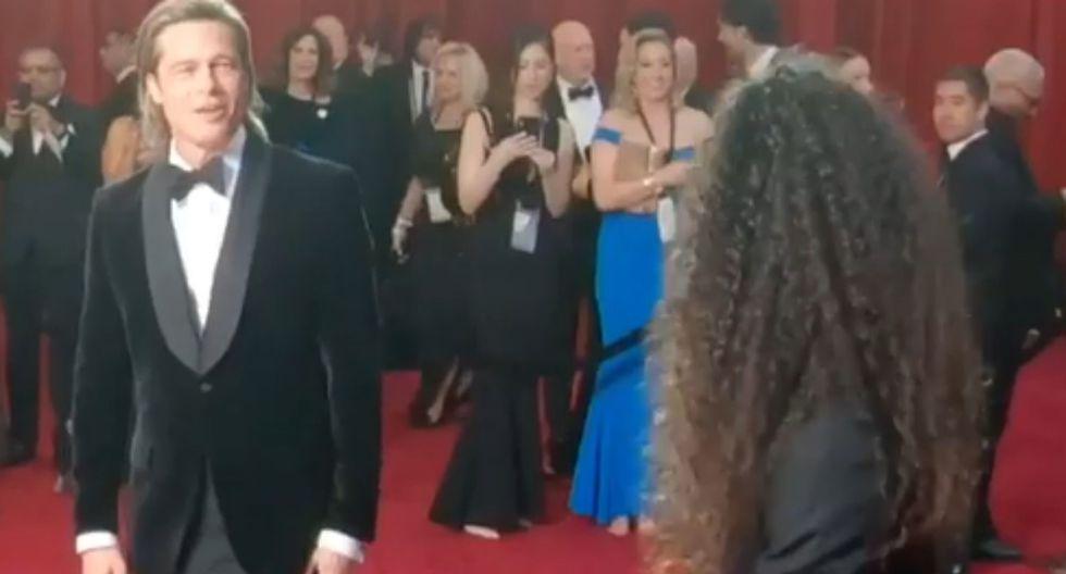 Brad Pitt se roba el suspiro de sus fans con Glambot en los Oscar  (Foto: captura)