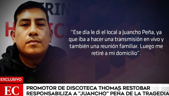 Job Luque Ayala fue interrogado por la Policía tras la muerte de 13 personas en el local que alquilaba. (América Noticias)