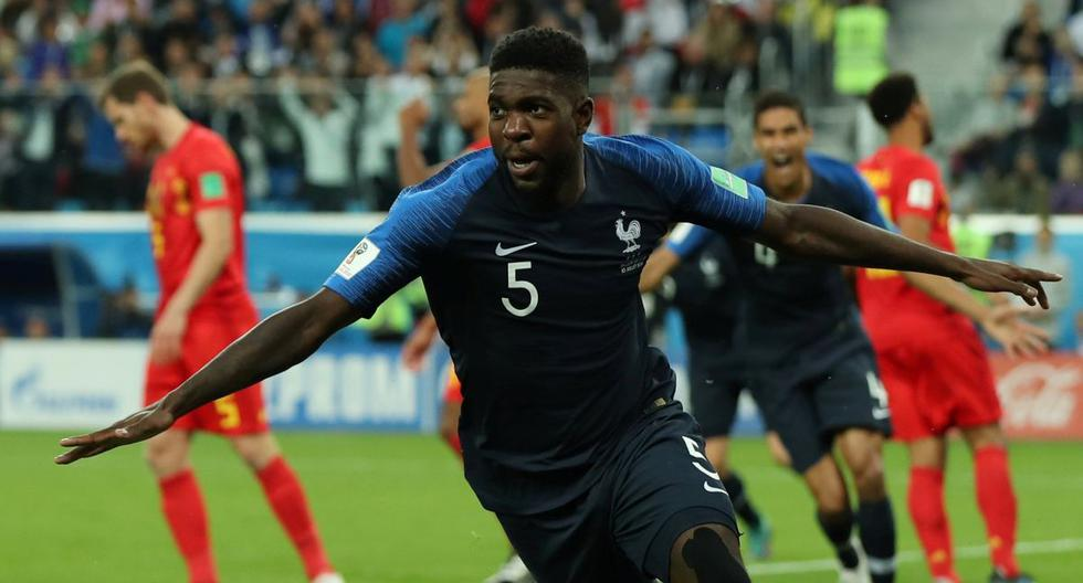 Gol Umtiti Francia vs Bélgica EN VIVO EN DIRECTO ONLINE TV semifinales de Rusia 2018