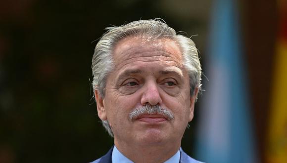 El presidente de Argentina, Alberto Fernández. (GABRIEL BOUYS / POOL / AFP).
