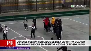 Surco: Cantantes, bailarines y motos se aglomeran en losa deportiva para grabar videoclip sin respetar medidas de seguridad