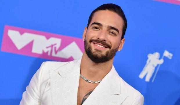 El cantante colombiano Maluma asiste a los MTV Video Music Awards 2018 en el Radio City Music Hall el 20 de agosto de 2018 en la Ciudad de Nueva York (Foto: Angela Weiss / AFP)