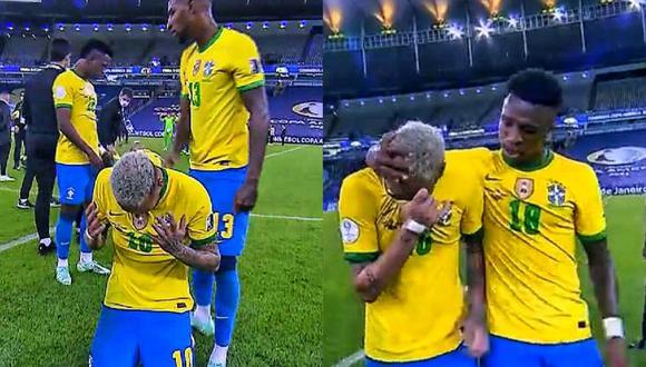 Neymar inconsolable tras perder final ante Argentina (captura)