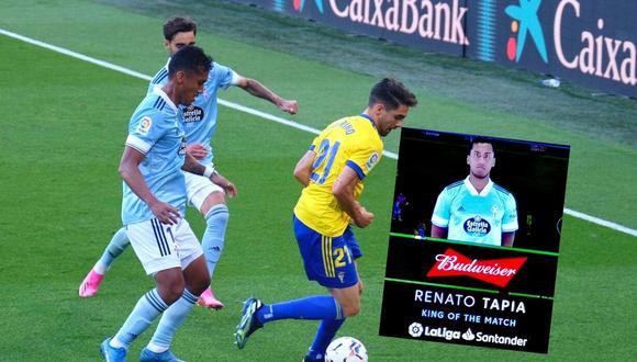 Renato Tapia fue la 'Muralla' de Celta ante Cádiz (Foto: La voz de Cádiz)