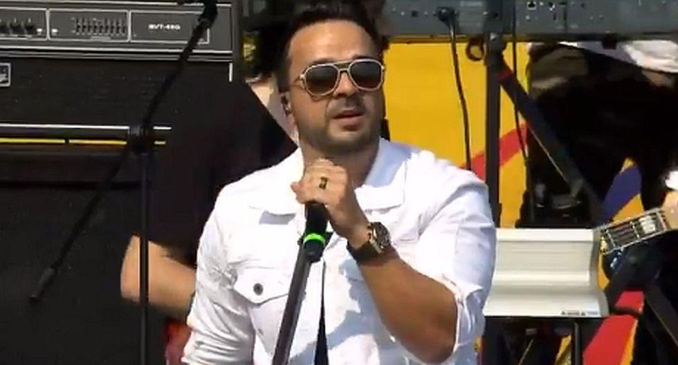 """El cantante Luis Fonsi ofreció un espectacular show musical con los temas """"Despacito"""" y """"No me doy por vencido"""". (Foto: Captura de video)"""