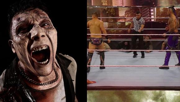 El Miz y Damian Priest se enfrentaron en una lucha de 'zombies leñadores'. (WWE)