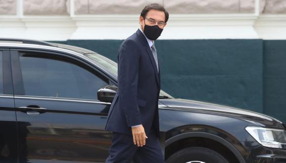 Martín Vizcarra a su llegada al Congreso. Foto: Alessandro Currarino / @photo.gec