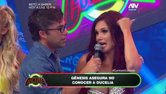 ¡Génesis Tapia ingresa a Combate y le mete tremendo cuadre a Ducelia Echevarría!