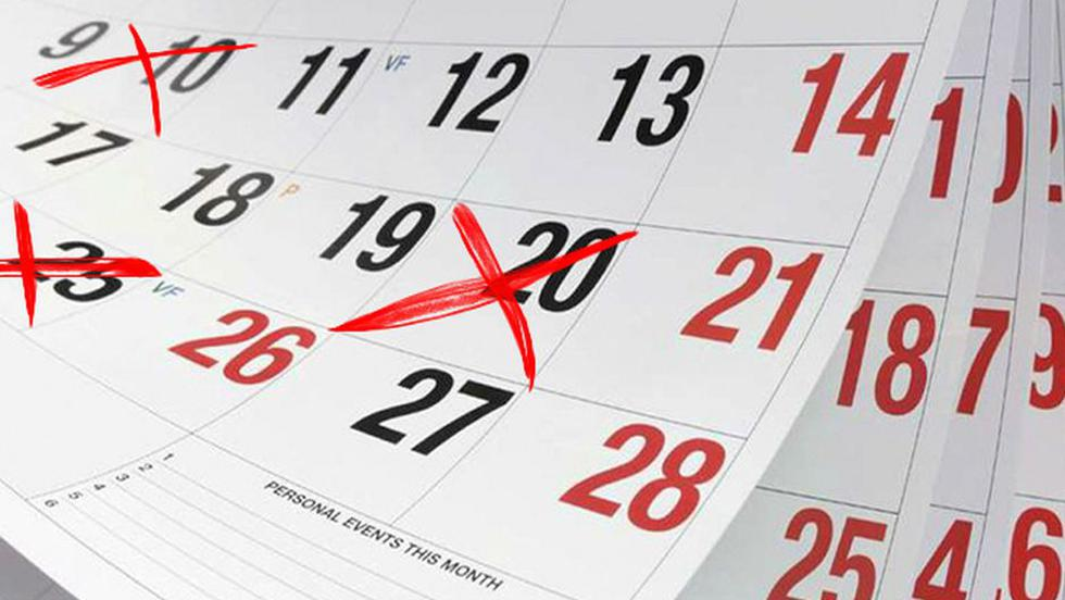 Estos son los días no laborales del 2018 (¡No, no son los mismos que los feriados)