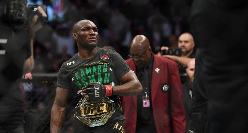 Kamaru Usman, el campeón de peso wélter del UFC. (Agencias)