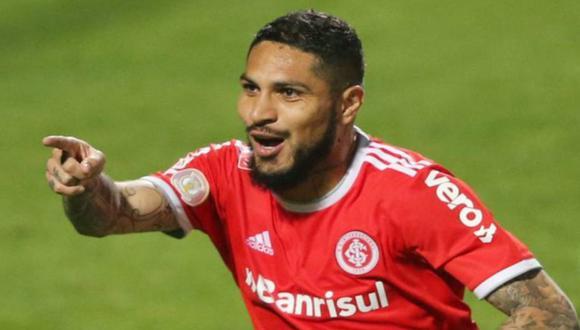 Paolo Guerrero anotó el primer gol en el Internacional vs Fluminense. (Referencial)
