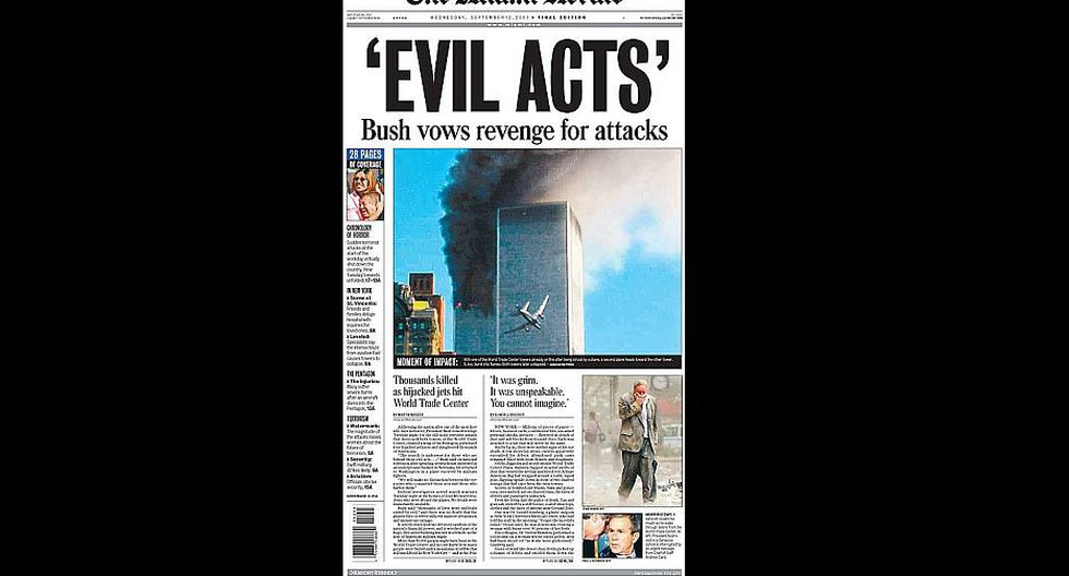 Medios internacionales informaron, hace 15 años, extensamente acerca de los atentados del 11-S. (Difusión)