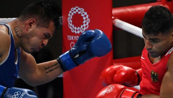 José María Lúcar (esquina azul) no pudo en su debut en Tokio 2020. (Foto: AFP)
