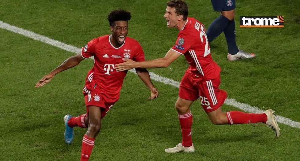 GOL Coman para el Bayern Munich en la final de la Champions League ante PSG