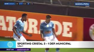 Sporting Cristal derrotó a Municipal y sigue imparable en la Liga 1