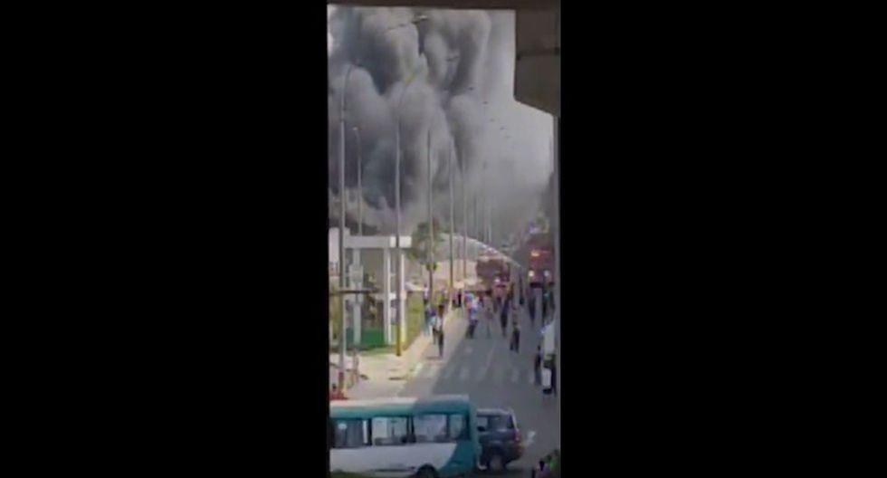 Incendio en Av. Grau (Fuente: Canal N)