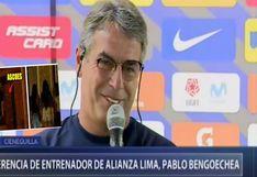 Alianza Lima: Esta fue la irónica reflexión de Pablo Bengoechea con periodista sobre las fiestas   VIDEO