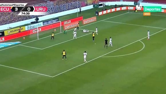 Ecuador puso el cuarto ante Uruguay por las Eliminatorias Qatar 2022. (Movistar)
