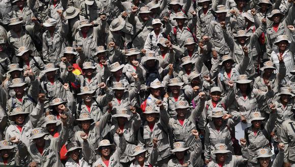 Unos mil miembros de la Milicia Nacional Bolivariana irían a la frontera entre Colombia y Venezuela. (Foto: AFP)