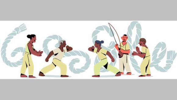 Google presentó un doodle animado para celebrar el 119 aniversario del nacimiento de Mestre Bimba. (Foto: Google)