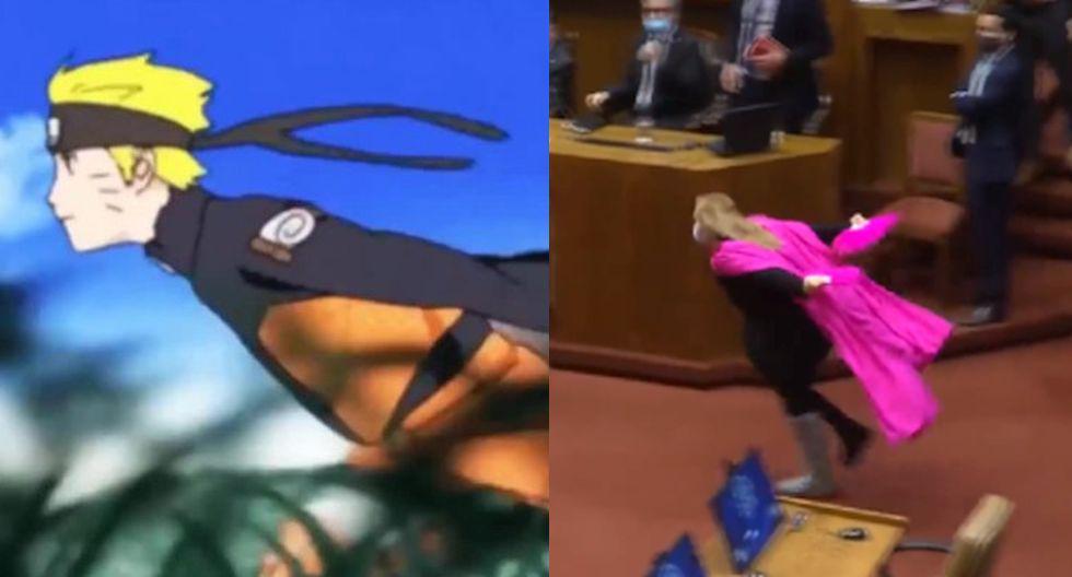 Diputada chilena corrió como Naruto en el Congreso del país sureño. (Twitter)