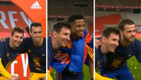Lionel Messi sumó sui título número 35 con camiseta de Barcelona.