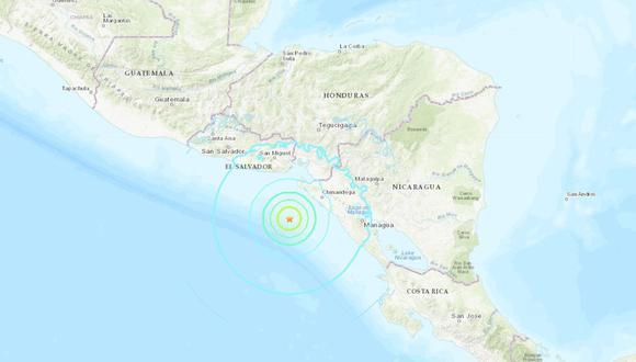 El temblor tuvo lugar a 78 kilómetros al suroeste de Jiquilillo, departamento de Chinandega, informó el  Servicio Geológico de Estados Unidos (USGS). (Foto: USGS)