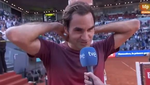 Roger Federer protagonizó un divertido momento en Madrid. (Captura: Youtube)