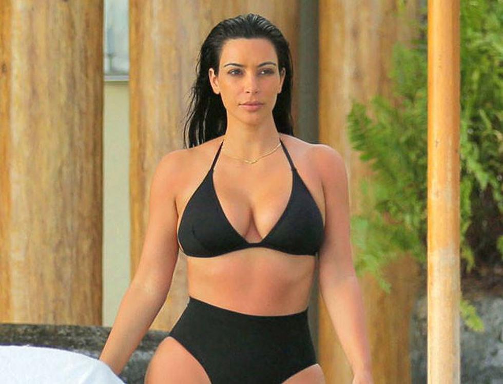 Kim Kardashian y su imponente figura.