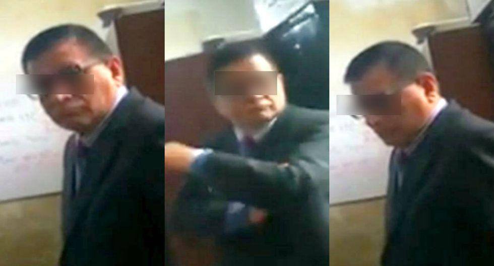 Juez se resiste a intervención policial tras ser captado manejando 'en contra' por la av. Abancay. Foto: Captura de América Noticias