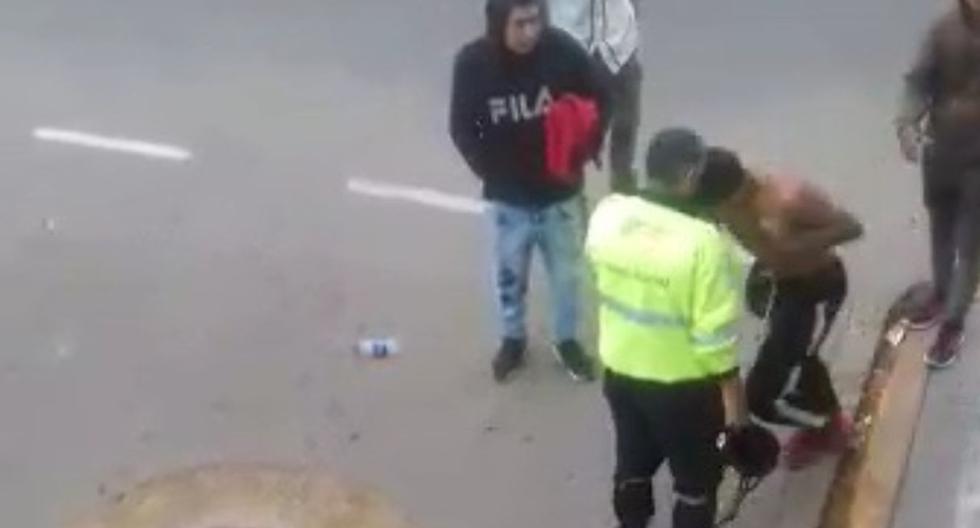 Sujeto atacó y le rompió el tabique a sereno que lo intervino. (Capturas: Municipalidad de Surco)