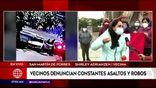 Vecinos denuncian constantes asaltos a bordo de motos en San Martín de Porres
