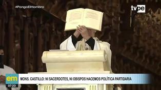 "Arzobispo de Lima: ""Ni sacerdotes, ni obispos podemos hacer política partidaria"""