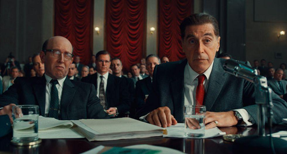 El actor Al Pacino es el encargado de dar vida al personaje de Hoffa. (Foto: Netflix)