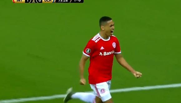 Marcos Guilherme, en Internacional vs U. de Chile por Copa Libertadores