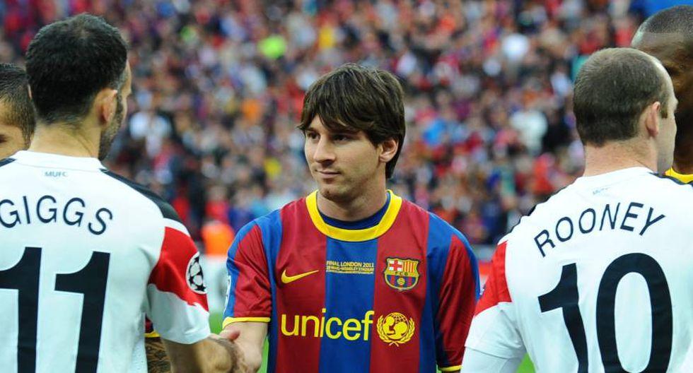 Los jugadores que estuvieron presentes en las finales Barcelona-Manchester United de Champions League en 2009 y 2011. (Foto: AFP)