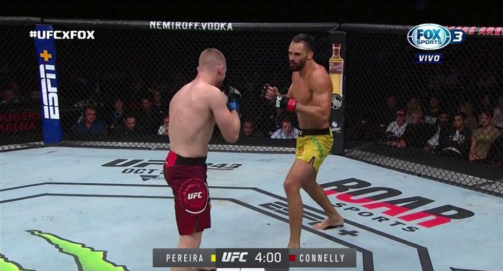 Brasileño Pereira sufrió su primera derrota en UFC. (Captura TV)