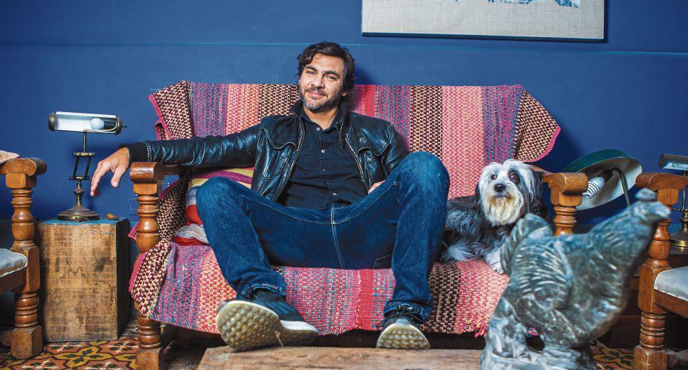 Joaquín de Orbegoso y su mascota 'Alma'. (Foto: Allen Quintana)