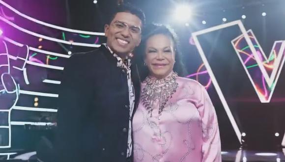 """Christian Yaipén y Eva Ayllón son presentados como los entrenadores de """"La Voz Kids"""". (Foto: Captura)"""